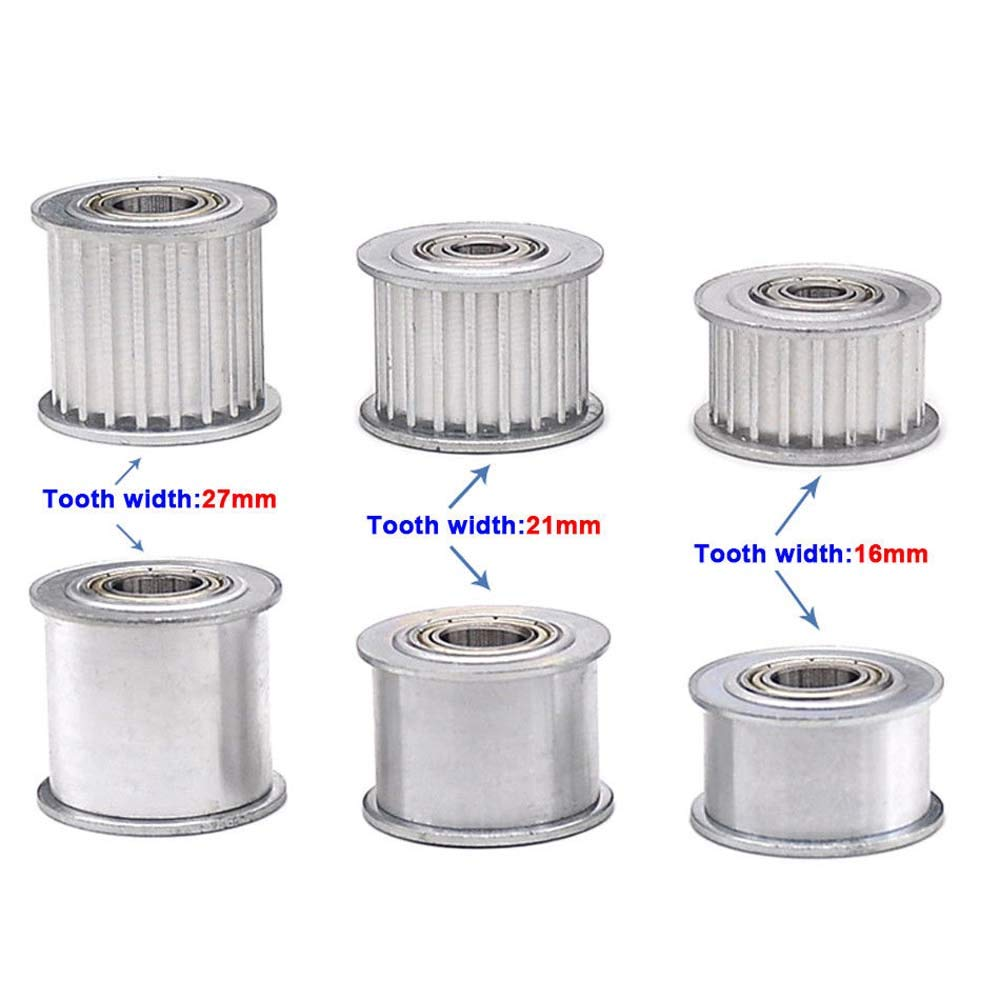 Aluminum 5M20T 6mm Bore Timing Pulley Idler Synchronous Wheel for 16mm 21mm Belt