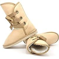 Gfone Bottes de Neige Chaudes et décontractées pour Femmes Bottes et Boots