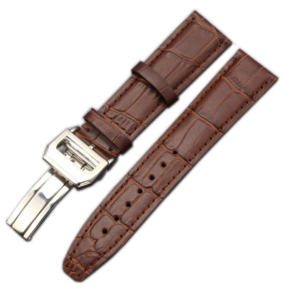 Luxury 20 mm 21 mm本革時計バンドブラックブラウン腕時計ストラップアクセサリーツールメンズレディース 20 ブラウン 20|ブラウン ブラウン 20 B075ZTR7PZ