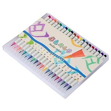 MEEDEN Echt Pinsel Aquarell Pinsel Stifte Set Best für Erwachsene ...