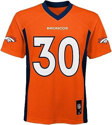 Outerstuff Phillip Lindsay Denver Broncos Orange Youth 8-20 Home Mid Tier Jersey