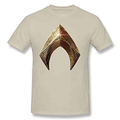 TANXJ Mens Justice League Aquaman Logo T-shirt Natural