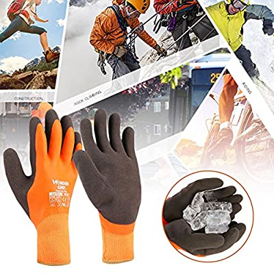 Tiptiper Winter Keep Warm Working Gloves, Durable Outdoor Heavy Duty Multipurpose Work Gloves Ergonomic Palm Design
