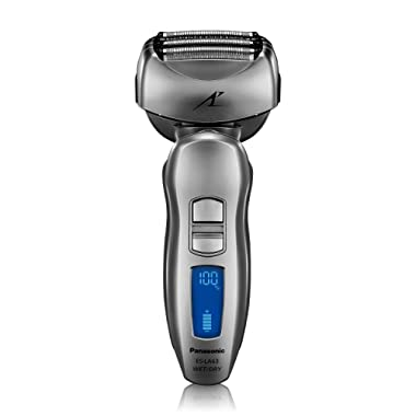 Panasonic ES-LA63-S Arc4 Men's Electric Razor, 4-Blade Cordless with Wet/Dry Shaver Convenience