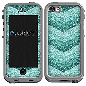 iphone 5c cases amazon teal glitter chevron skin decal for iphone 5c 14645