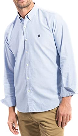 EL PULPO Camisa Oxford Azul Hombre XL Azul: Amazon.es: Ropa y ...