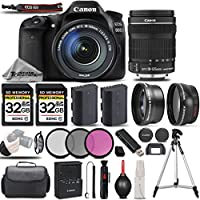 Canon EOS 80D Wi-Fi Full HD 1080P Digital SLR Camera + Canon 18-135mm IS STM Lens + 0.43x Wide Angle Lens + 2.2x Telephoto Lens . All Original Accessories Included - International Version