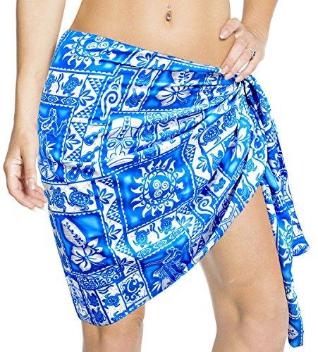 LA LEELA Likre Hawaii Swimsuit Wrap Women Sarong Printed 78