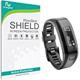 Garmin Vivosmart HR Screen Protector [6-PACK] Full Coverage [Military-Grade] RinoGear Premium HD Invisible Clear Shield w/ Lifetime Replacements