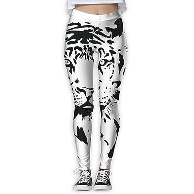 617dee83f0 NSYGCK White Tiger Yoga Pants for Women Colorful Sleek-Fit Yoga Leggings