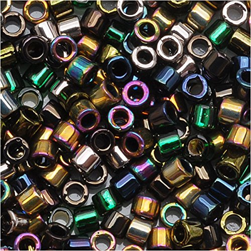 Miyuki Delica Seed Beads, 11/0 Size, 100 Gram Bulk Bag, Mix Heavy Metals Iris Gold