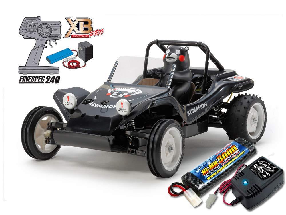 タミヤ XBフルセット 2.4G RCバギーくまモンバージョン ブラック+急速充電器大容量バッテリーセット B07STTDKP9