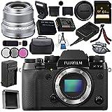 Fujifilm X-T2 Mirrorless Digital Camera (Body Only) 16519247 + Fujifilm XF 23mm f/2 R WR Lens (Silver) 16523171 Bundle
