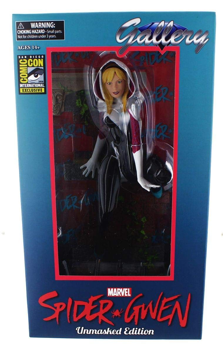 Spider-Gwen Unmasked Figure SDCC 2016 Exclusive Limited Edition of 3,000 Diamond Select Toys FEB168428 Marvel Gallery