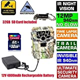 Blueskysea Sg-880v 12mp 940nm No Glow Ir Night Vision Time Lapse Wildlife Hunting Camera Trail Security Stealth...