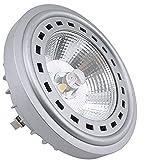 Bonlux 12W LED G53 AR111 12-24V 2700K Luz Cálida 24 Grados Cree COB LED G53 ES111, Reemplazo del lámpara Halógena de 75W
