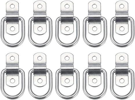LIOOBO 10-Pack Anillos de Amarre Anillo en Forma de D Anillo de ...