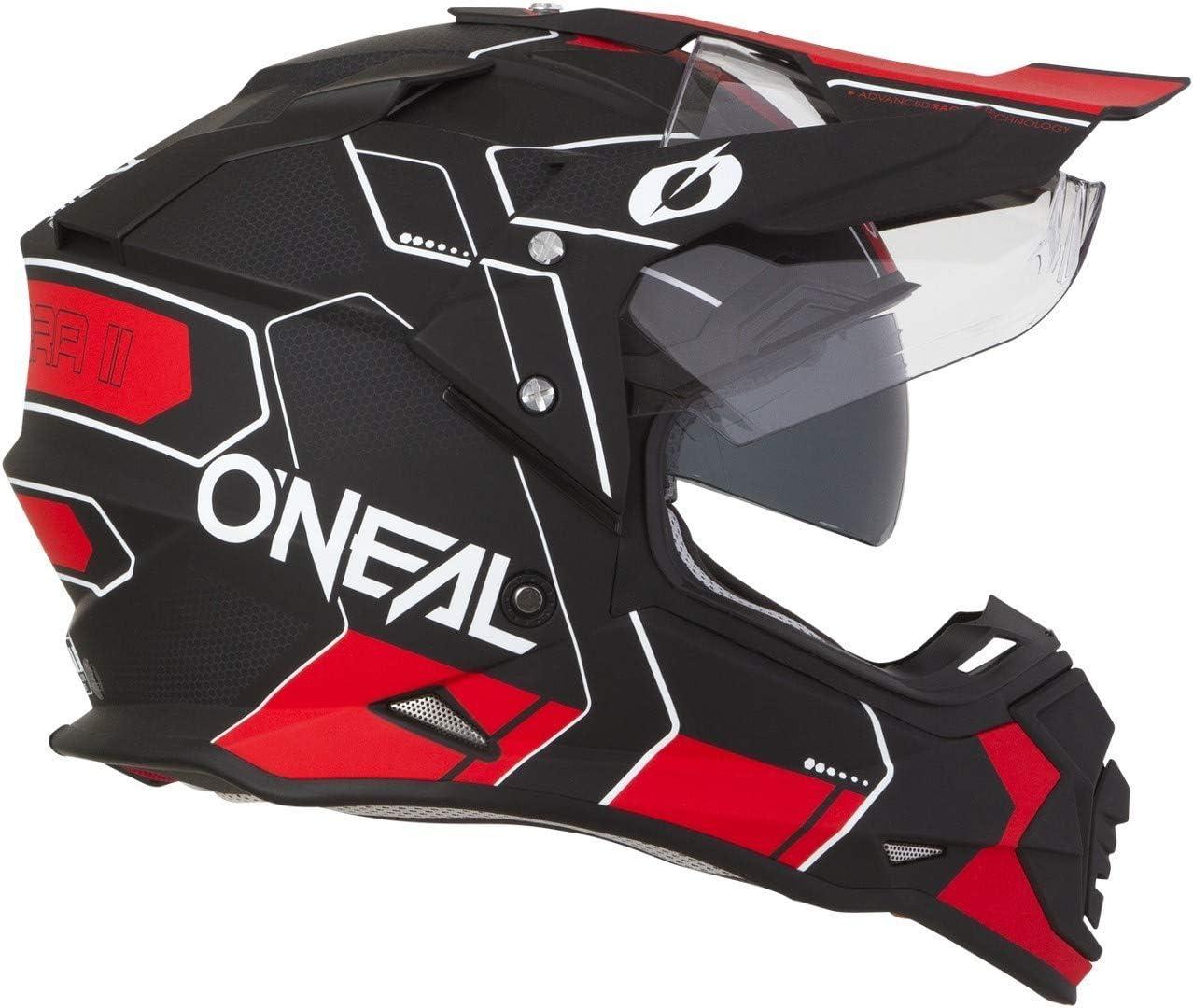 ONeal Sierra II Helmet Comb Black//Red XL Casque Mixte Adulte Noir//Rouge 61//62cm