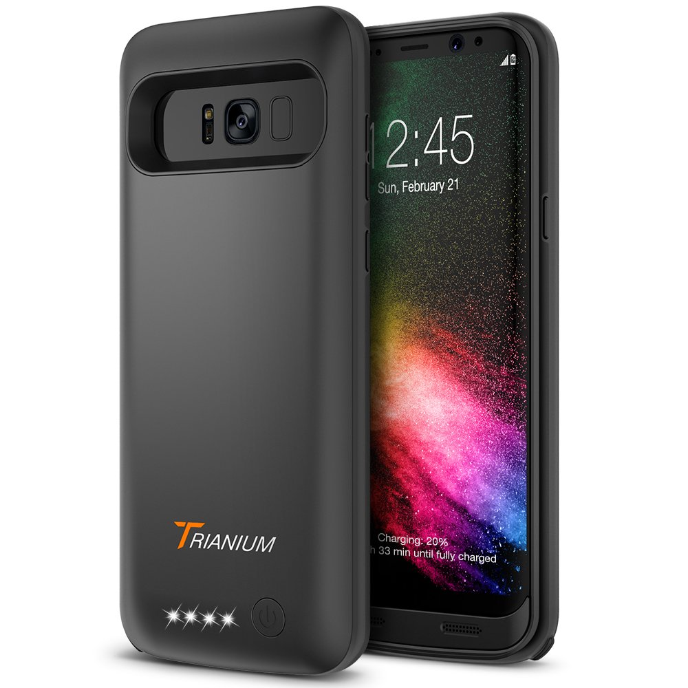 Galaxy S8 Plus Battery Case, Trianium Atomic Pro Battery Charger for Samsung Galaxy s8 Plus / s8+ 6.2-inch Phone ONLY- 5000mAh Extended Battery Juice Power Fast Charging Case [Quick Charge Pass-Thru] 4326446869