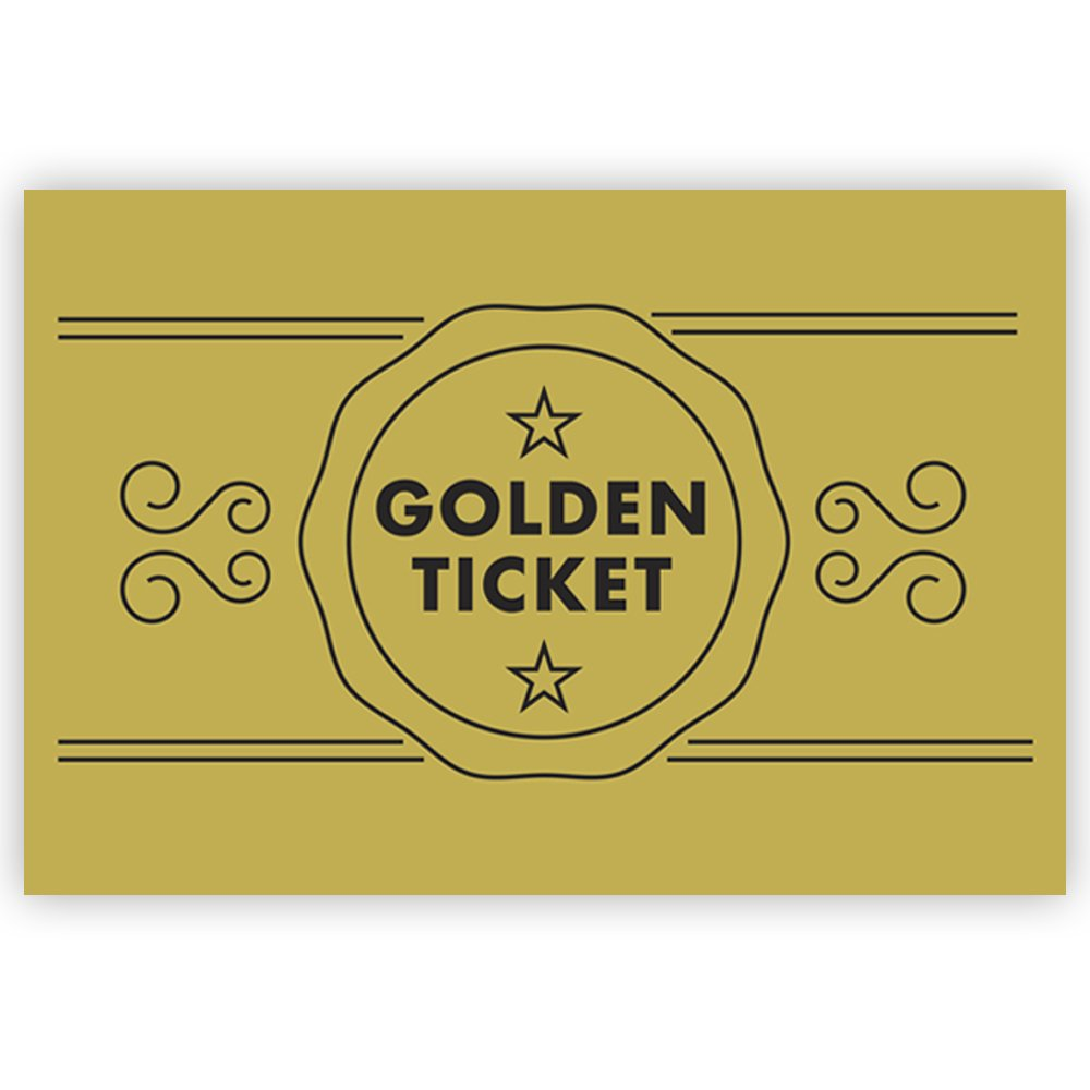 Golden Ticket Personalised Birthday Party Invitations: Amazon.co.uk ...