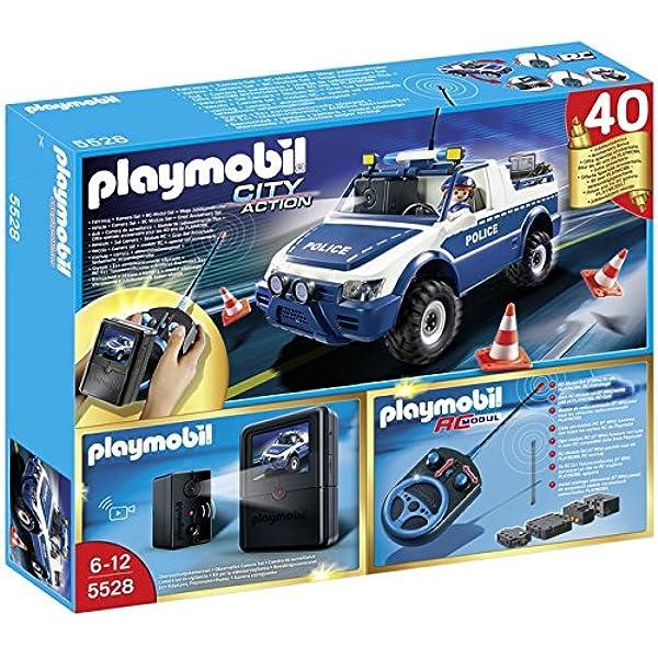 PLAYMOBIL Policía - Coche de policía con cámara y Radio Control (5528): Amazon.es: Juguetes y juegos