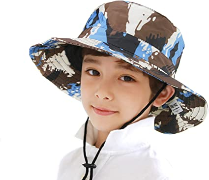 Child's Cotton Camouflage Bucket Hats LOT OF 6 PC
