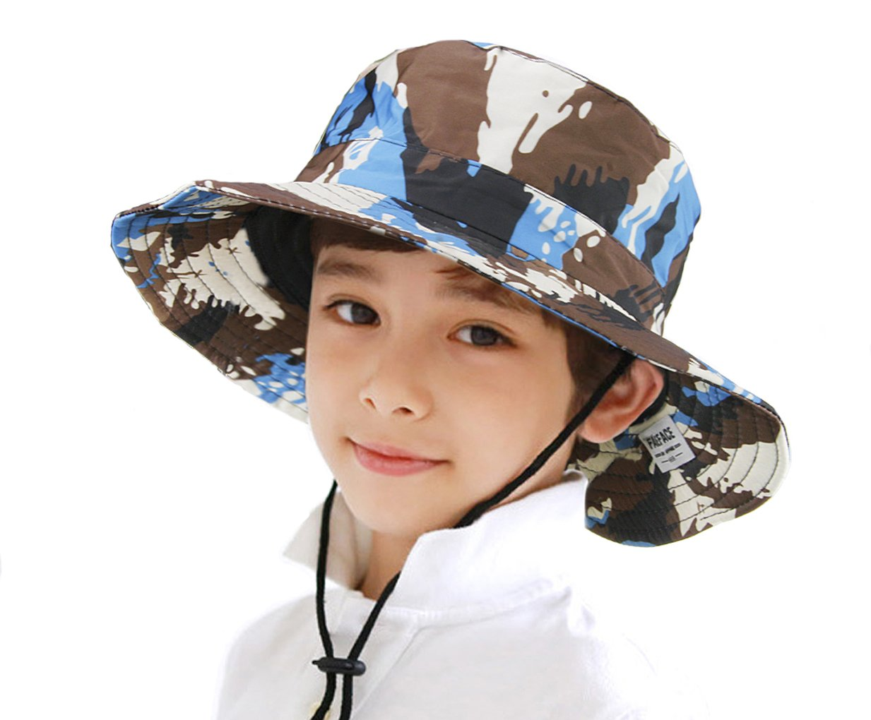 f5d3d6303ea Fakeface Kids Toddler Girls Boys Camo Bucket Hat Anti-UV Sun Protection  Foldable Cotton Boonie Hat Holiday School Picnic Beach Travel Flat Sun Hat  1-4 Yrs