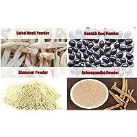 Jadibuti Shatavar, Safed Musli, Kaunch Beej & Ashwagandha Powders (100 GM)Combo