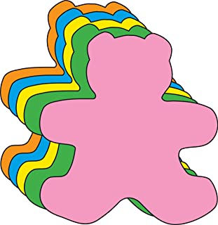 """product image for 5.5"""" Teddy Bear Assorted Color Cut-Outs, 31 Cut-Outs in a Pack for Teddy Bear Picnics, Spring Crafts, Kids' School Craft Projects"""