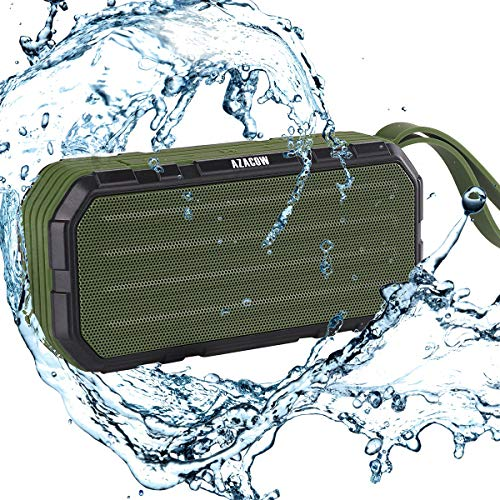 Portable Wireless Bluetooth 4.2 Speakers 10W with HD Stereo Sound, Extra Bass, Waterproof IPX6, Built in Mic, 12H Playback, 2000mAh Power Bank,Perfect for Camping, Echo dot, Outdoors, Party