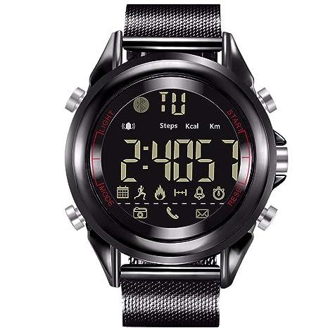 QYLJX Bluetooth 4.0 Reloj Deportivo Podómetro Reloj ...