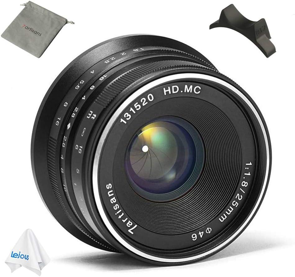 7artisans 25mm F1.8 Manual Prime Fixed Lens for Panasonic Olympus Micro 4//3 Mount Mirrorless Cameras