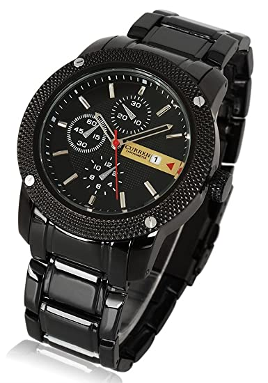 Amazon.com: Shot-in Stainless Metal Band CURREN 8069 Luxury Sports Hour Date Display Men Wrist Watch: Cell Phones & Accessories