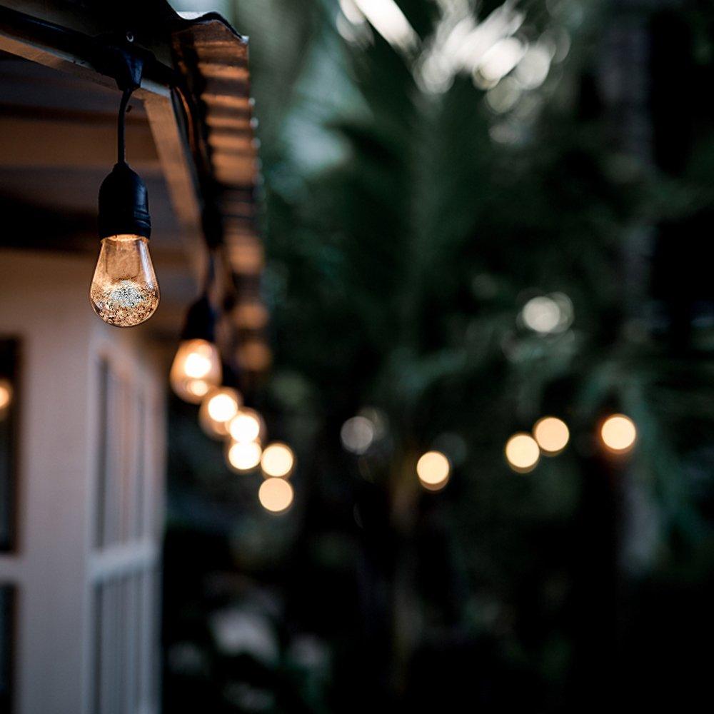 Weihnachtsbaum,Partys usw Solar Lichterkette,YWTESCH Led Lichterkette mit Led Kugel 5.3m 12LEDs Wasserdicht Beleuchtung mit Lichtsensor f/ür Au/ßen Garten Terrasse Warmwei/ß, Bunt