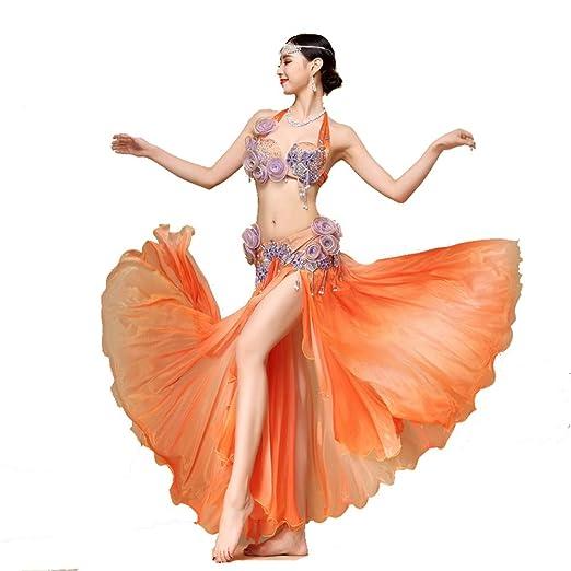 Falda de baile Traje de danza del vientre for mujer Sujetador ...