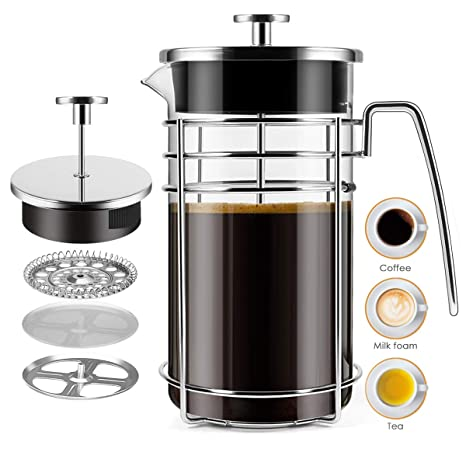 Amazon.com: Brazil French Press cafetera eléctrica, 34 onzas ...