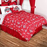 Sports Coverage NCAA Ohio State Buckeyes All Over Comforter, Queen, Bright Red