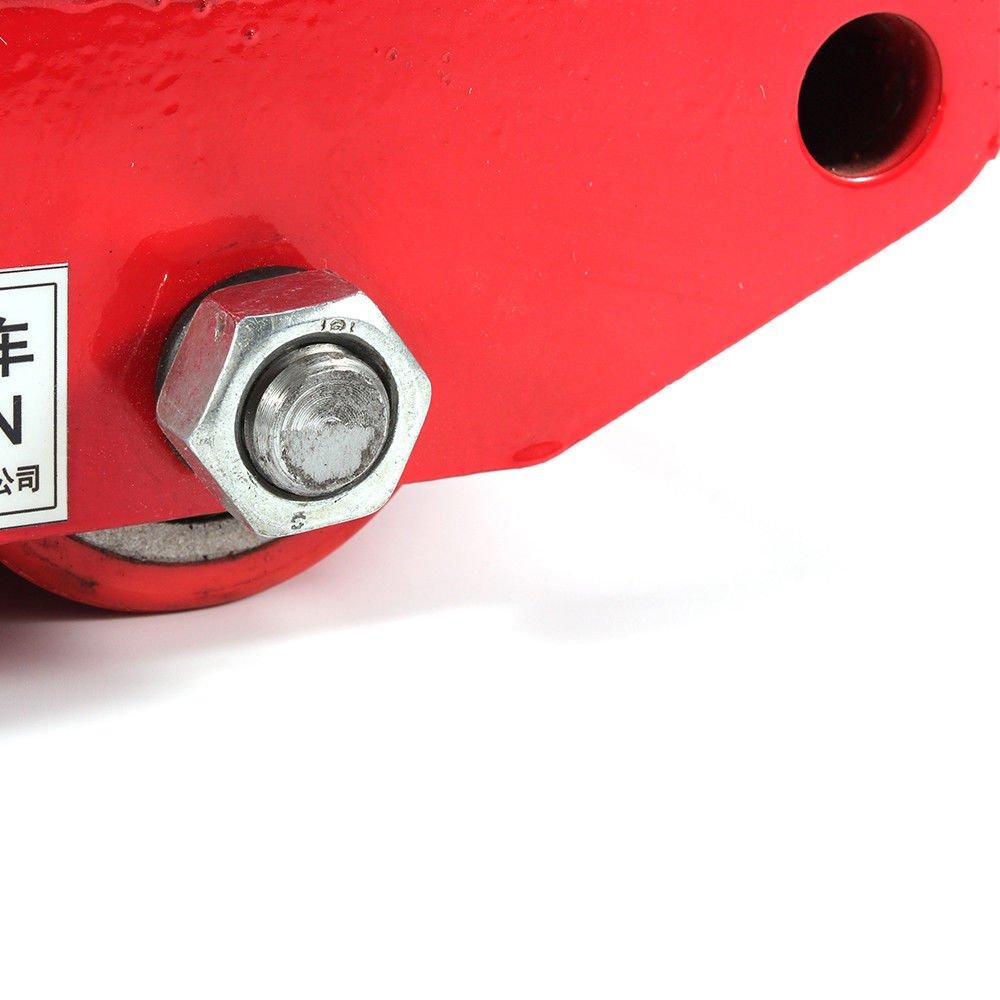 KAHE2016 - Rodillos de rotación de 360 grados para amantes de la maquinaria industrial, para muebles, aparatos, trasporte, rueda de 13200lb 6T Dolly Skate 4 ...