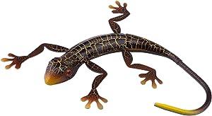 VOSAREA Metal Gecko Wall Decor 3D Lizard Inspirational Sculpture Hanging Pendant Wall Art Ornament for Home Garden Yard Outdoor Coffee