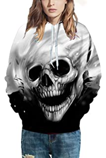Nimpansa Women Hooded Sweatshirts Cat Print Long Sleeve Daily Pullover
