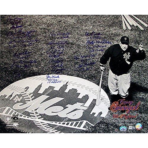 CASEY STENGEL 1962 NY METS TEAM SIGNED 16x20 PHOTO KRANEPOOL CRAIG HOOK ZIMMER +