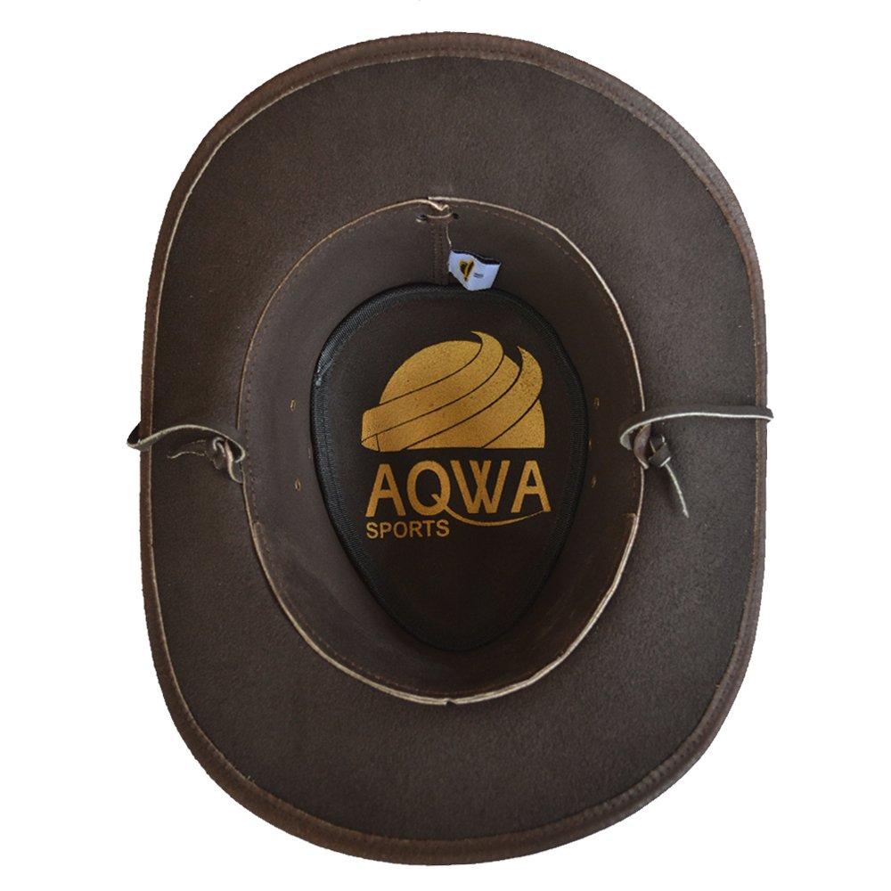 AQWA New Classic Bronzo Conchos Western in Stile Cappello da Cowboy sottogola