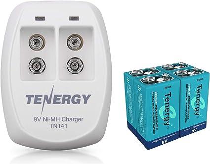 Amazon.com: Tenergy TN141 2 Bay 9 V cargador inteligente con ...