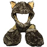 Soft Warm Winter Animal Hat With Attached Scarf and Mittens Frog