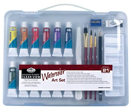 amazon com darice watercolor painting set 21 pieces toys games