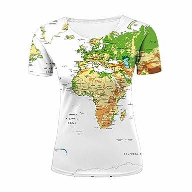 World map womens t shirt fashion tees m amazon clothing world map womens t shirt fashion tees m gumiabroncs Gallery