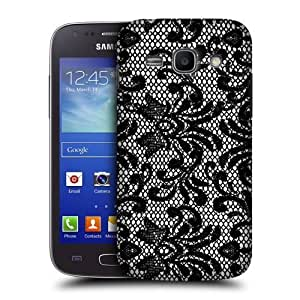 AIYAYA Samsung Case Designs Damask Black Lace Protective Snap-on Hard Back Case Cover for Samsung Galaxy Ace 3 S7270 S7272 S7275
