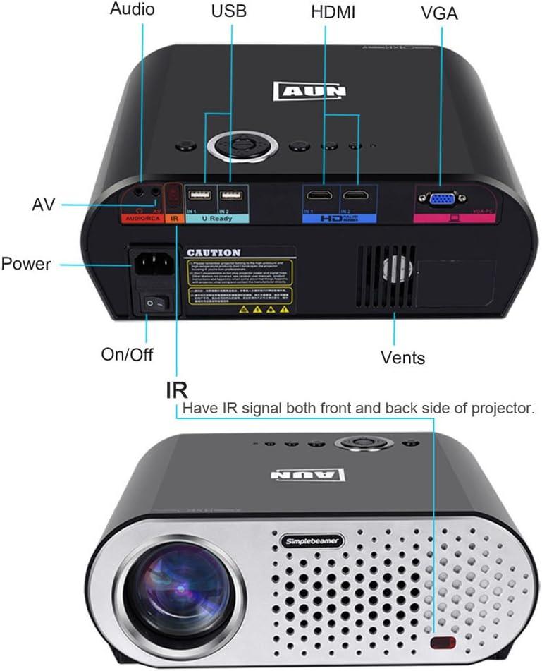 AUN 3200 lúmenes 1280*768 Resolución LED Proyector Reproductor ...