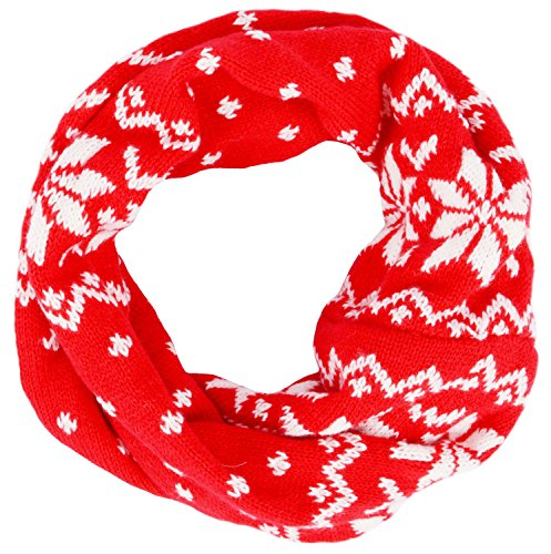 Childrens Beautiful Snowflake Patterned Infinity product image