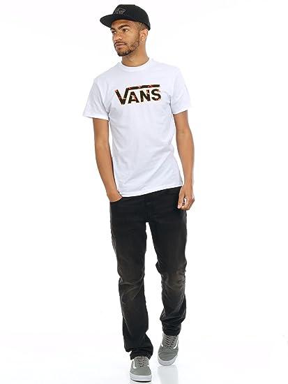 Camiseta Vans Classic Logo Fill Blanco-Trouble In Paradise (M ...